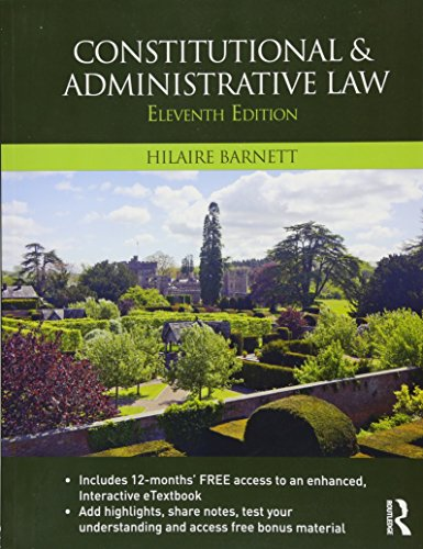 9781138814769: Constitutional & Administrative Law