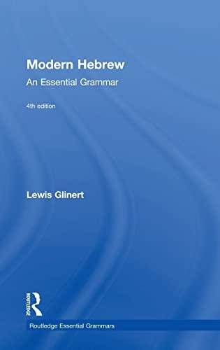 9781138816961: Modern Hebrew: An Essential Grammar (Routledge Essential Grammars)