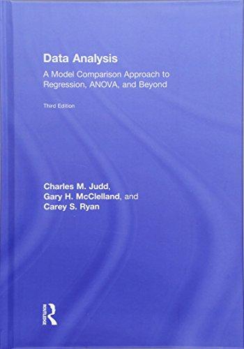 Data Analysis 3 Rev ed: Judd, Charles M.;mcclelland,