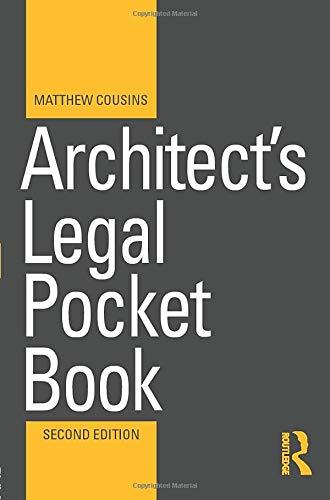 9781138821446: Architect's Legal Pocket Book (Routledge Pocket Books)