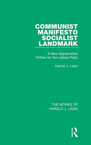 9781138822221: Communist Manifesto (Works of Harold J. Laski): Socialist Landmark