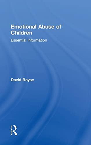 9781138831780: Emotional Abuse of Children: Essential Information