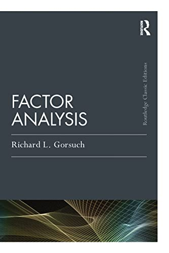 9781138831995: Factor Analysis: Classic Edition (Psychology Press & Routledge Classic Editions)
