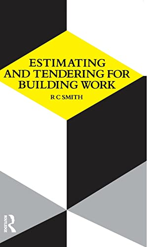 Estimating and Tendering for Building Work (Longman Technician Series): Ronald Carl Smith