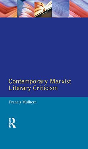 9781138836372: Contemporary Marxist Literary Criticism (Longman Critical Readers)