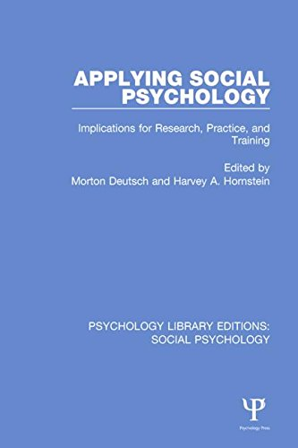 9781138838734: Psychology Library Editions: Social Psychology: Applying Social Psychology: Implications for Research, Practice, and Training: Volume 8