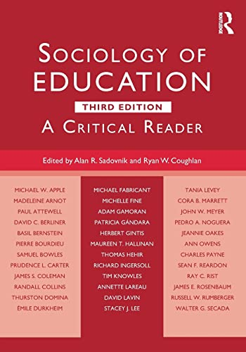 9781138843004: Sociology of Education: A Critical Reader