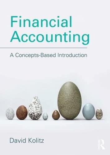 Financial Accounting: A Concepts-Based Introduction: Kolitz, David