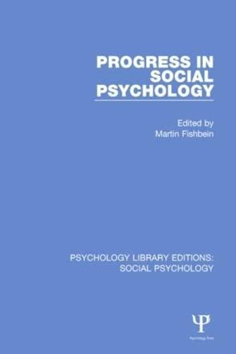 9781138849105: 9: Progress in Social Psychology: Volume 1 (Psychology Library Editions: Social Psychology) (Volume 9)