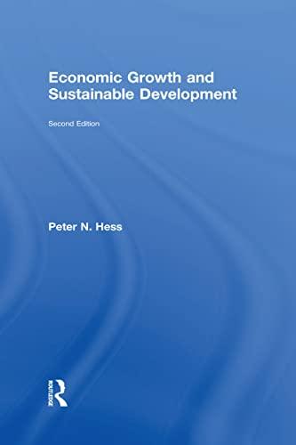 9781138853928: Economic Growth and Sustainable Development