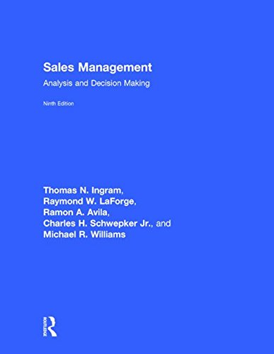 9781138858022: Sales Management: Analysis and Decision Making, 9th edition