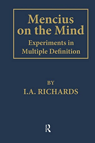 9781138863156: Mencius on the Mind: Experiments in Multiple Definition