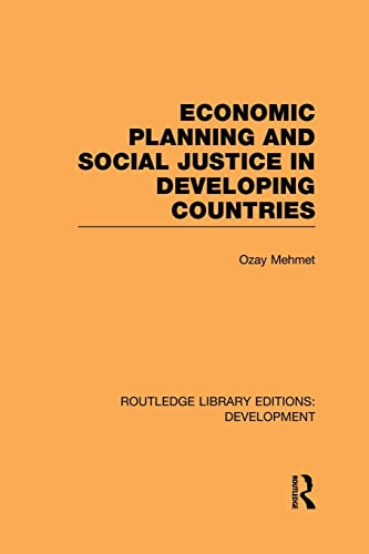 9781138865686: Economic Planning and Social Justice in Developing Countries