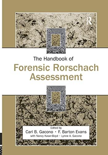 9781138873087: The Handbook of Forensic Rorschach Assessment