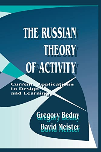 9781138876514: The Russian Theory of Activity: Current Applications To Design and Learning (Applied Psychology Series)