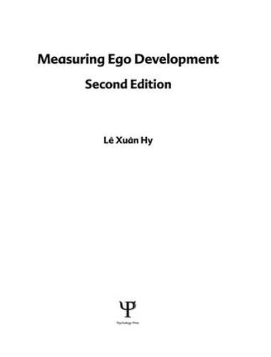 9781138876552: Measuring Ego Development