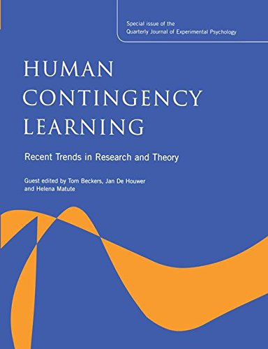 9781138877719: Human Contingency Learning: Recent Trends in Research and Theory: A Special Issue of the Quarterly Journal of Experimental Psychology