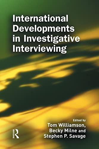 9781138878570: International Developments in Investigative Interviewing