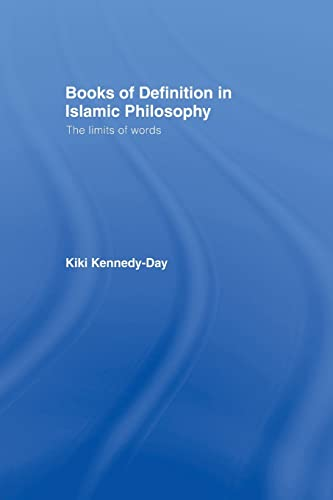 Books of Definition in Islamic Philosophy: Kennedy-Day, Kiki