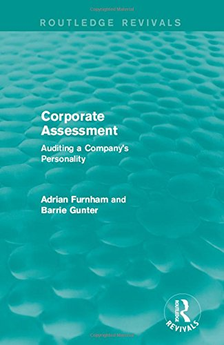 9781138887633: Corporate Assessment (Routledge Revivals): Auditing a Company's Personality