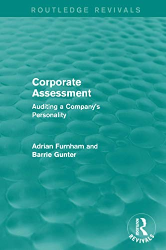 9781138887640: Corporate Assessment (Routledge Revivals): Auditing a Company