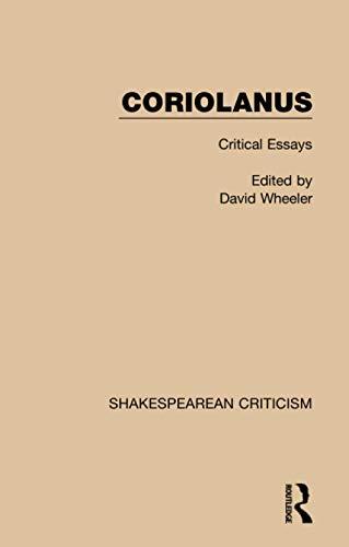 9781138887732: Coriolanus: Critical Essays
