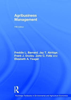 Agribusiness Management: BARNARD, FREDDIE L.;