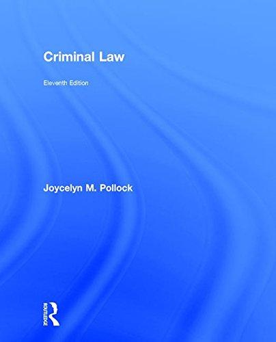 9781138903265: Criminal Law (John C. Klotter Justice Administration Legal)