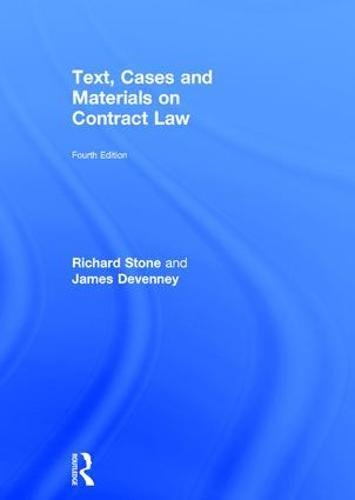9781138907478: Text, Cases and Materials on Contract Law