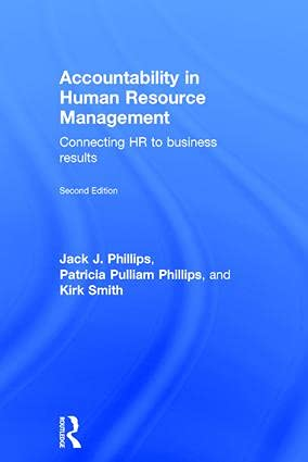 9781138909946: Accountability in Human Resource Management: Connecting HR to Business Results