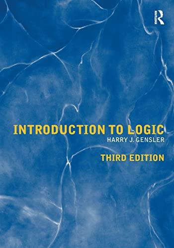 Introduction to Logic: Harry J Gensler