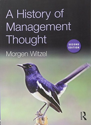 9781138911635: A History of Management Thought