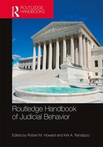 9781138913356: Routledge Handbook of Judicial Behavior