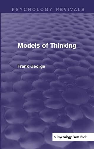 9781138919860: Models of Thinking (Psychology Revivals)