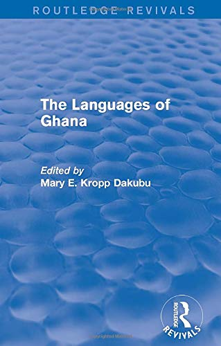 9781138926219: The Languages of Ghana