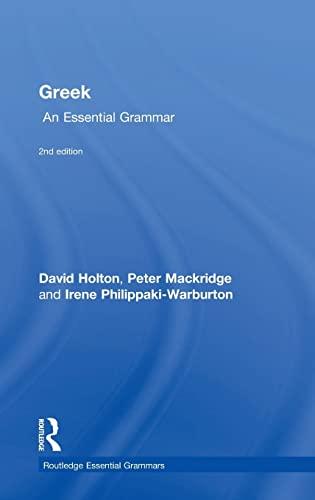 9781138930674: Greek: An Essential Grammar (Routledge Essential Grammars)