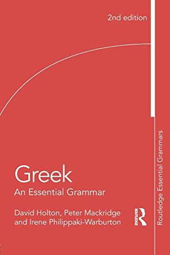 9781138930681: Greek: An Essential Grammar (Routledge Essential Grammars)