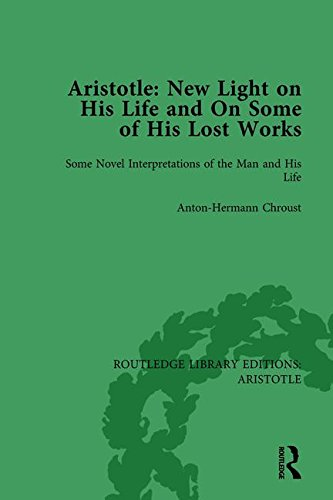 9781138937062: Aristotle: New Light on His Life and On Some of His Lost Works, Volume 1: Some Novel Interpretations of the Man and His Life