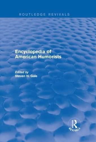Encyclopedia of American Humorists (Hardcover)