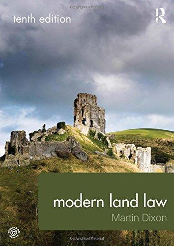 Modern land law: prof. Martin dixon: 9780415577458.
