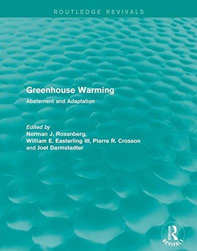 9781138963191: Greenhouse Warming: Abatement and Adaptation