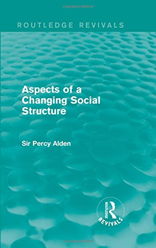 9781138963290: Aspects of a Changing Social Structure (Routledge Revivals)
