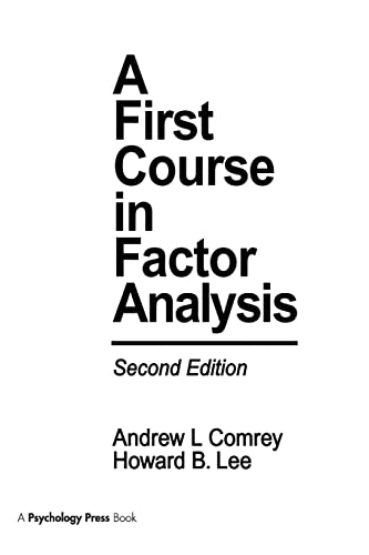 9781138965454: A First Course in Factor Analysis