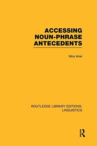 9781138965737: Accessing Noun-phrase Antecedents
