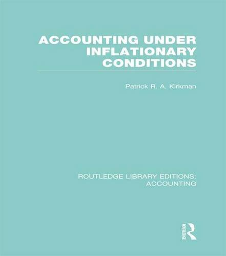 9781138965843: Accounting Under Inflationary Conditions (RLE Accounting) (Routledge Library Editions: Accounting)
