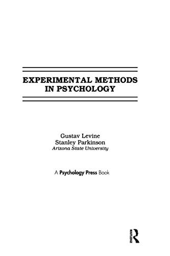 9781138969322: Experimental Methods in Psychology