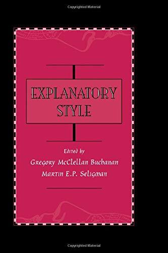 9781138969353: Explanatory Style
