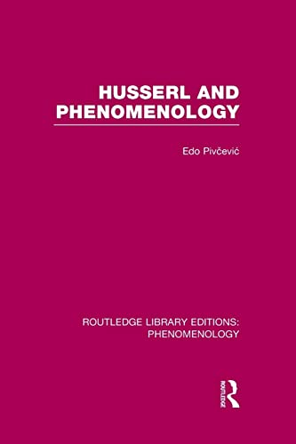 9781138972162: Husserl and Phenomenology Rle