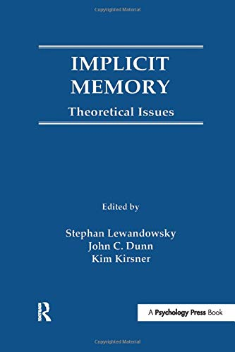 9781138972391: Implicit Memory: Theoretical Issues