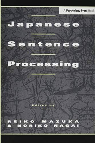 9781138973695: Japanese Sentence Processing